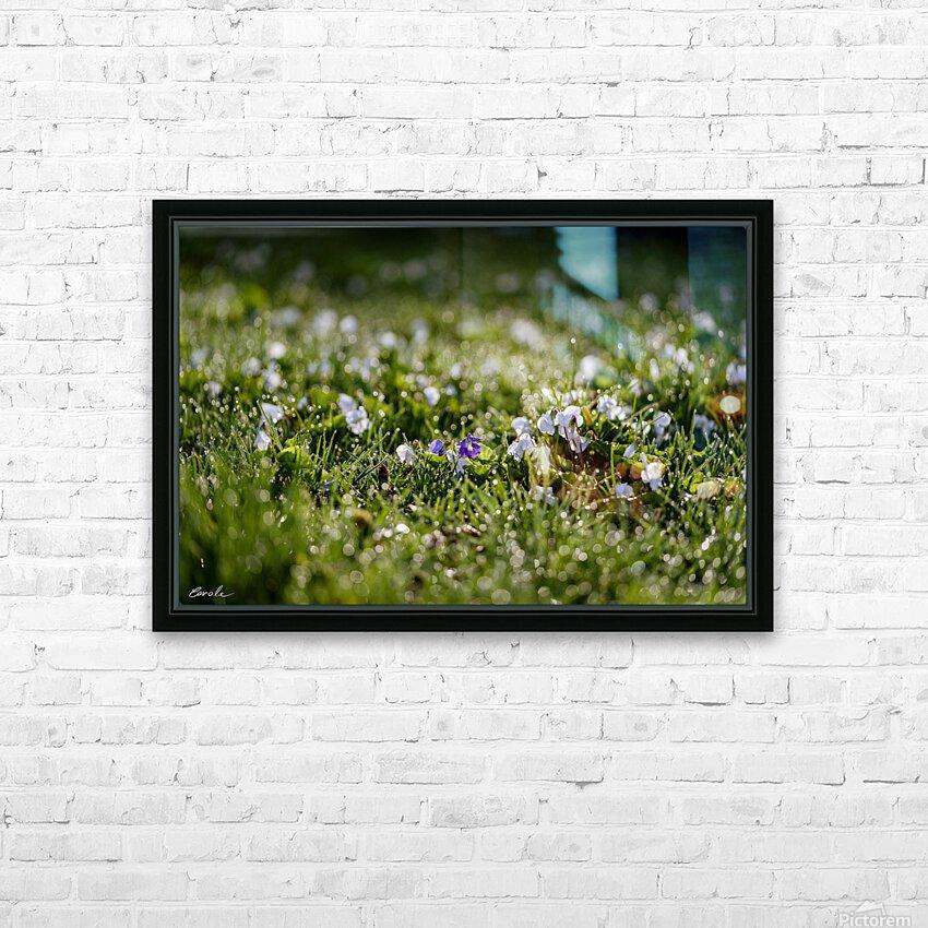 Confettis au jardin 2 HD sublimation métal imprimé avec décoration flotteur cadre (boîte)
