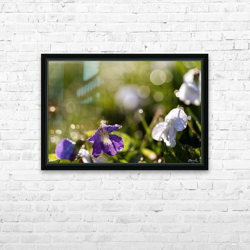 Confettis au jardin 4 HD sublimation métal imprimé avec décoration flotteur cadre (boîte)