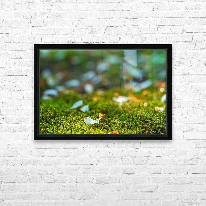 Petit poisson au jardin HD Sublimation Metal print with Decorating Float Frame (BOX)