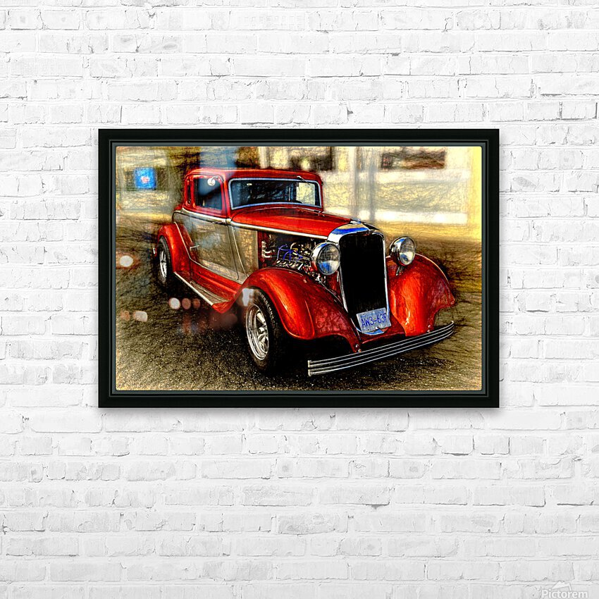 1933 Dodge Coupe HD Sublimation Metal print with Decorating Float Frame (BOX)