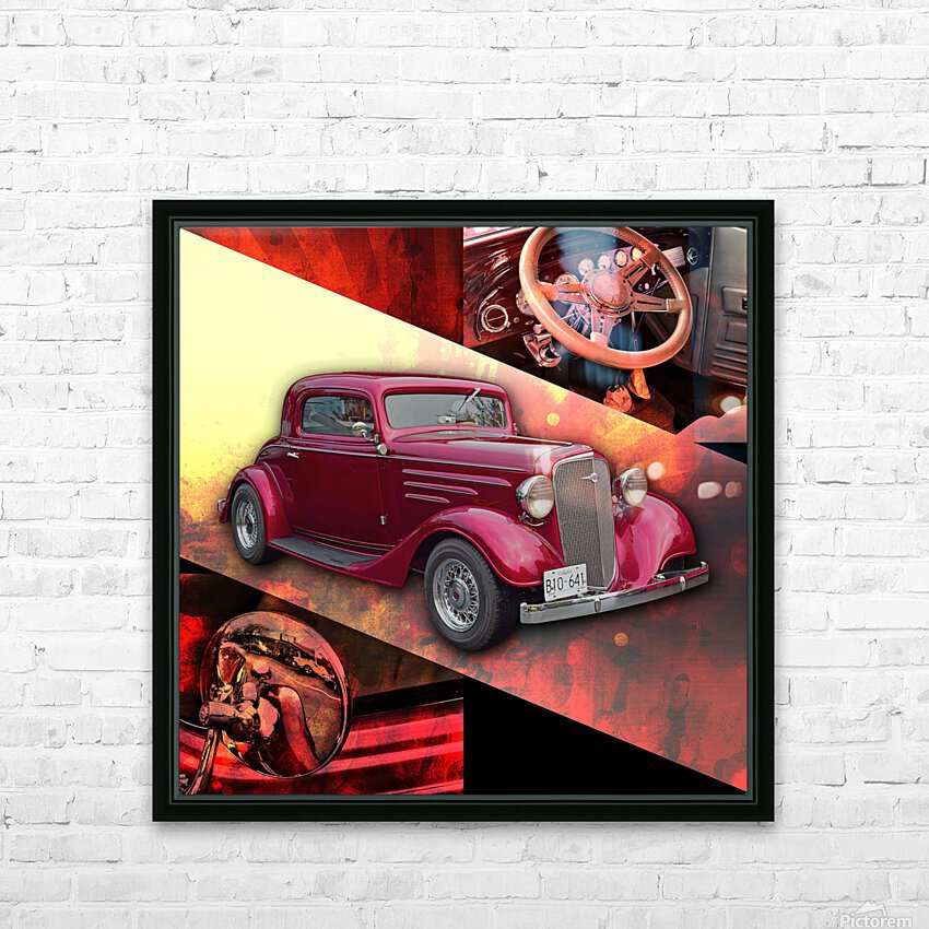 1935 Chevrolet 5-Window Coupe HD Sublimation Metal print with Decorating Float Frame (BOX)