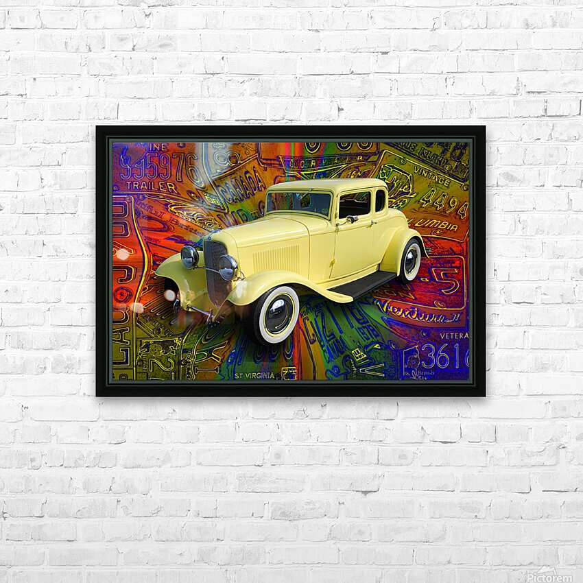 1932 Ford Coupe HD Sublimation Metal print with Decorating Float Frame (BOX)