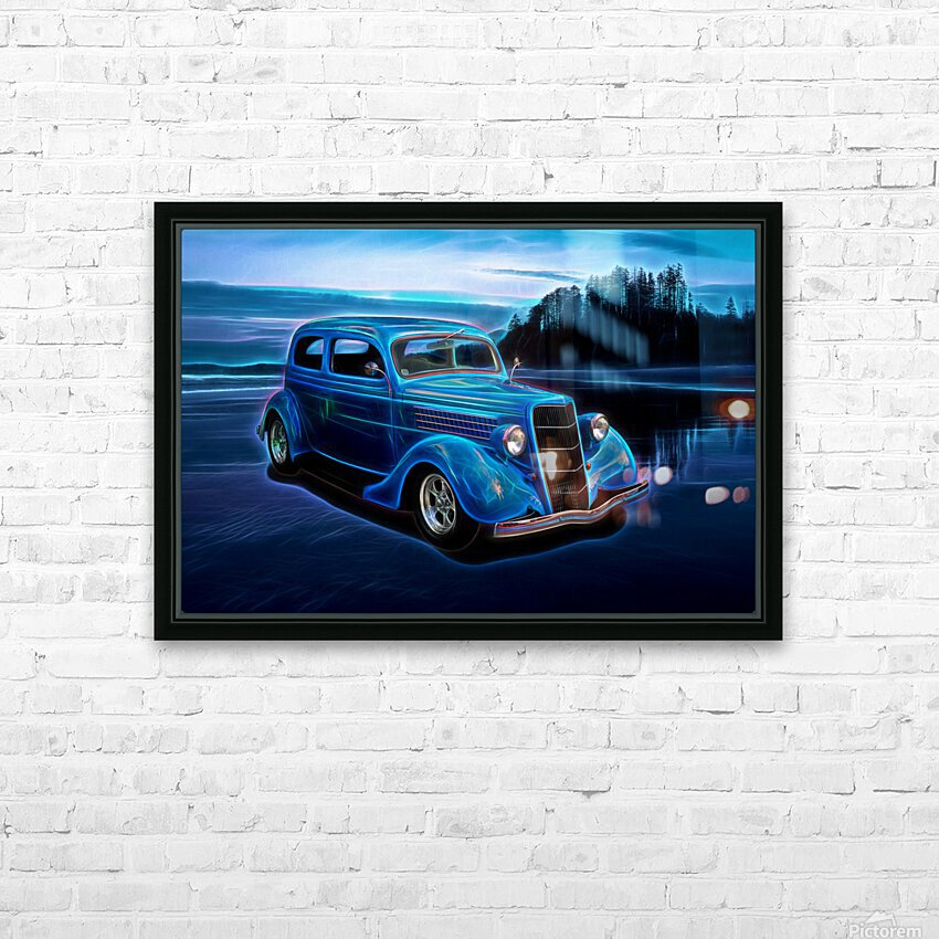 1935 Ford 2-Door Sedan HD Sublimation Metal print with Decorating Float Frame (BOX)