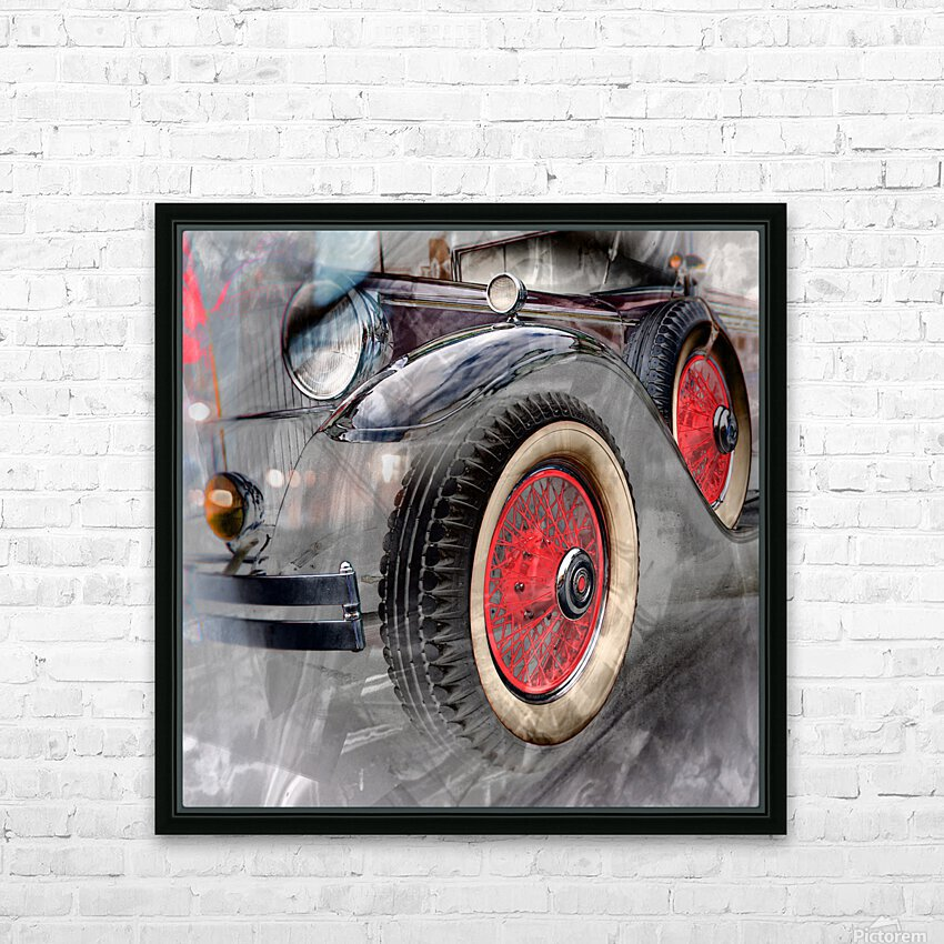1930 Packard HD Sublimation Metal print with Decorating Float Frame (BOX)