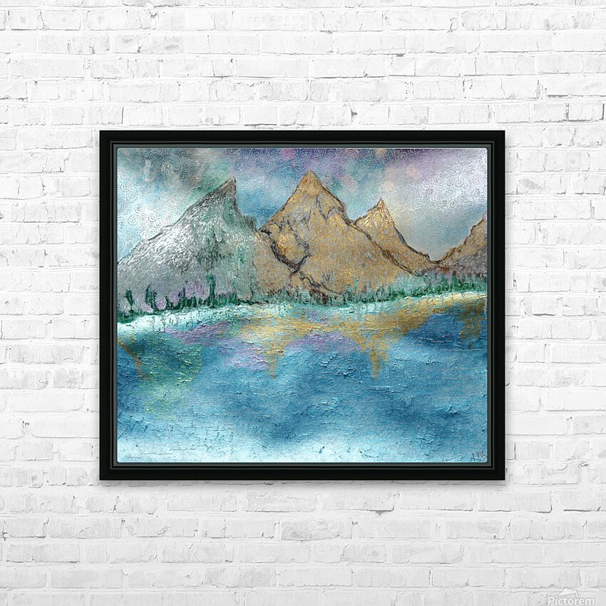 Mountains HD Sublimation Metal print with Decorating Float Frame (BOX)