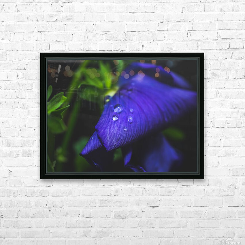 Drops With Blue HD Sublimation Metal print with Decorating Float Frame (BOX)