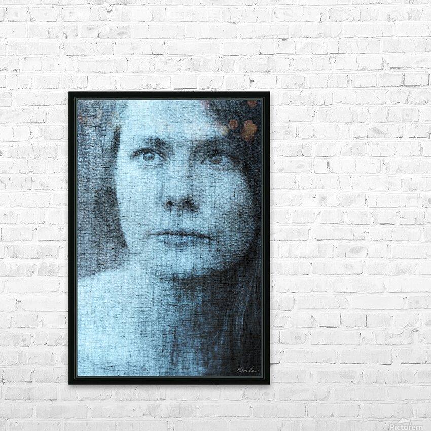 Un regard bleu - A Blue Gaze HD Sublimation Metal print with Decorating Float Frame (BOX)