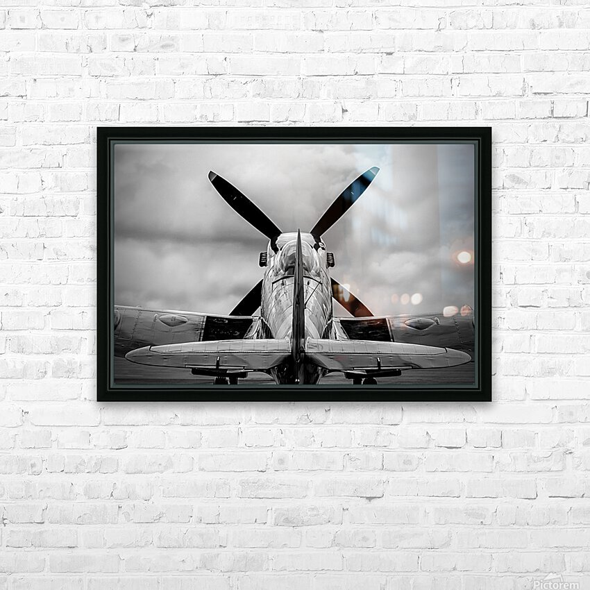 Spitfire Backside Limited Edition 50 Prints only HD Sublimation Metal print with Decorating Float Frame (BOX)