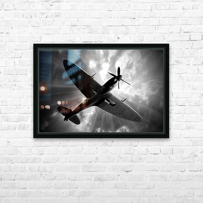 Spitfire Angel Limited Edition 50 Prints only HD Sublimation Metal print with Decorating Float Frame (BOX)