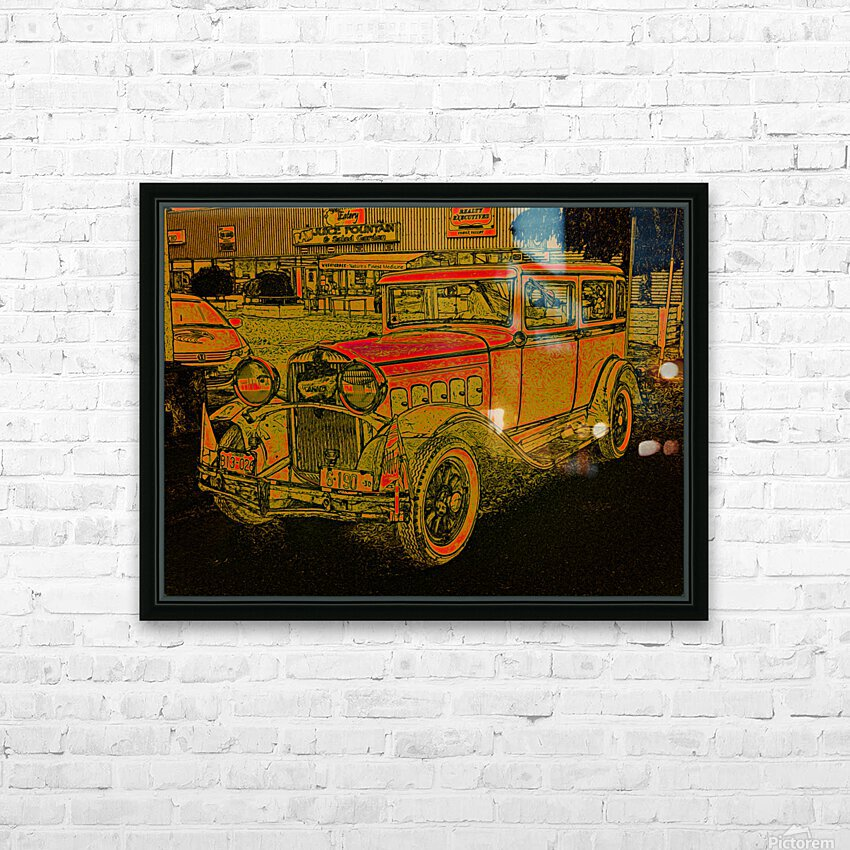 1930 Hudson HD Sublimation Metal print with Decorating Float Frame (BOX)