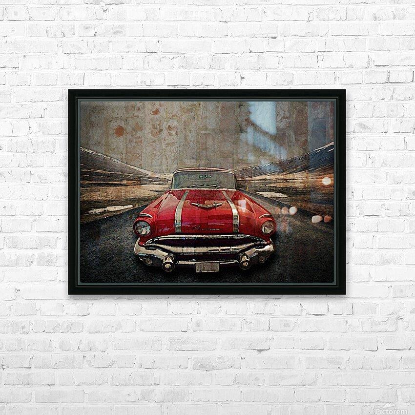 1956 Pontiac Strato-Streak HD Sublimation Metal print with Decorating Float Frame (BOX)
