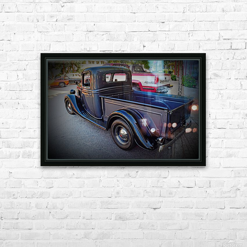 1935 Ford Pickup HD Sublimation Metal print with Decorating Float Frame (BOX)