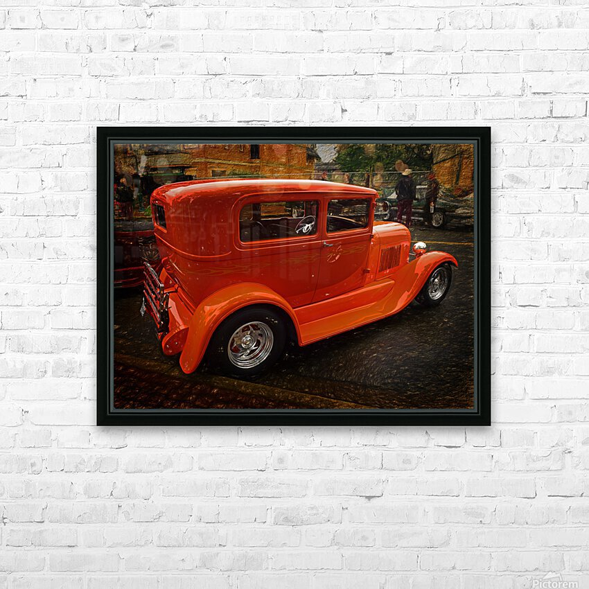 1929 Ford Tudor Sedan HD Sublimation Metal print with Decorating Float Frame (BOX)