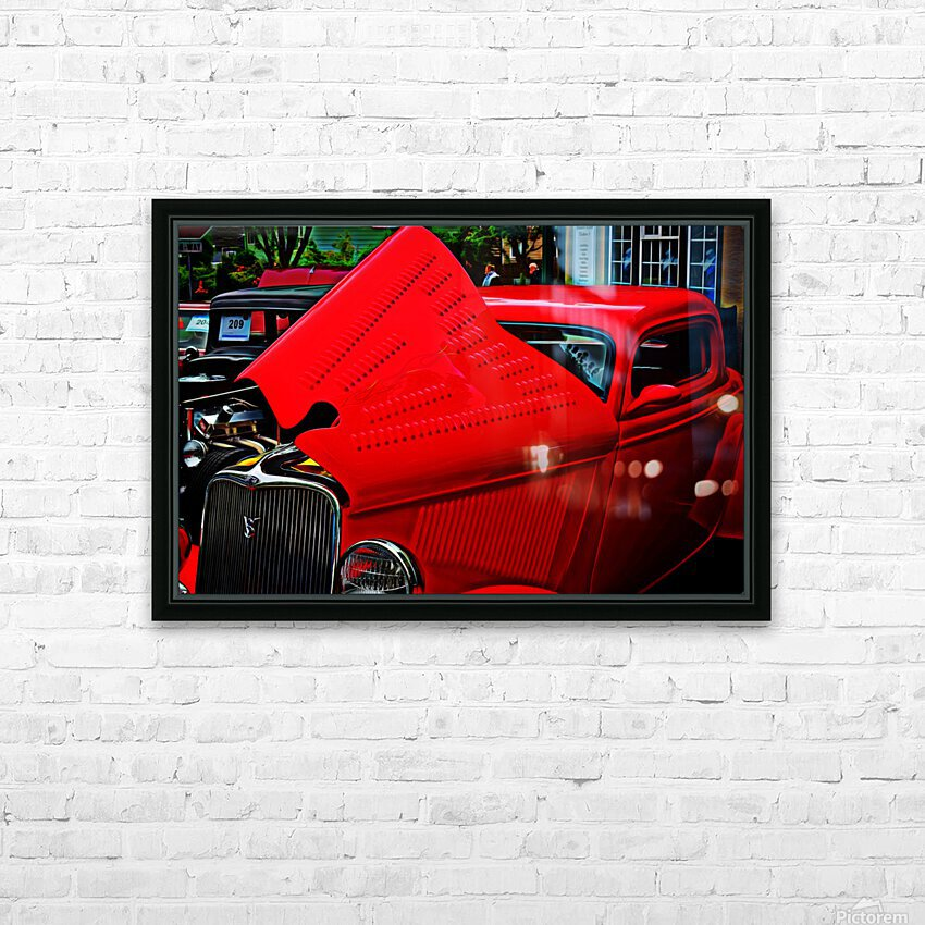 1933 Ford Window Coupe HD Sublimation Metal print with Decorating Float Frame (BOX)