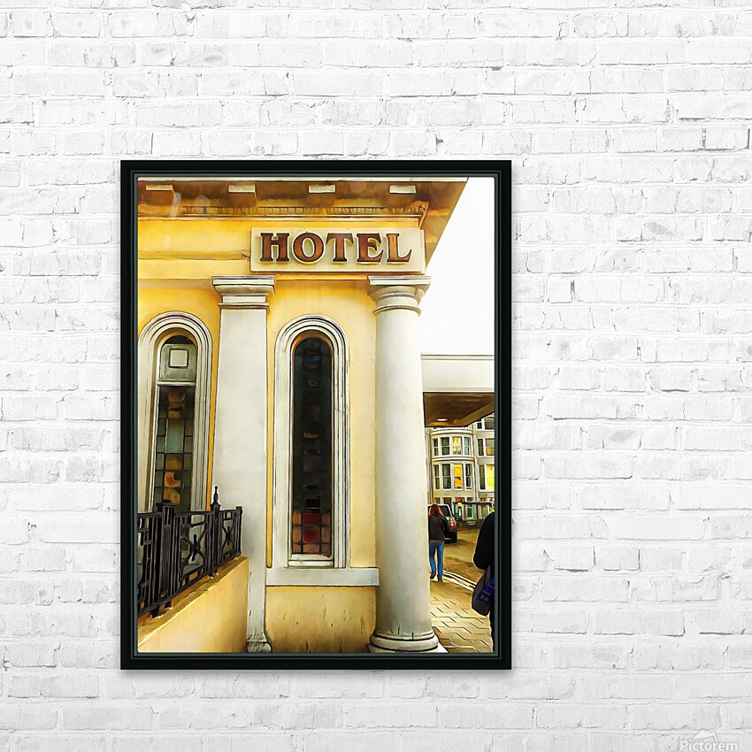 Royal Albion Hotel Brighton Entrance HD Sublimation Metal print with Decorating Float Frame (BOX)
