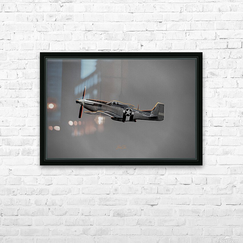 P-51 Orange Super Limited Edition 10 Prints only HD Sublimation Metal print with Decorating Float Frame (BOX)