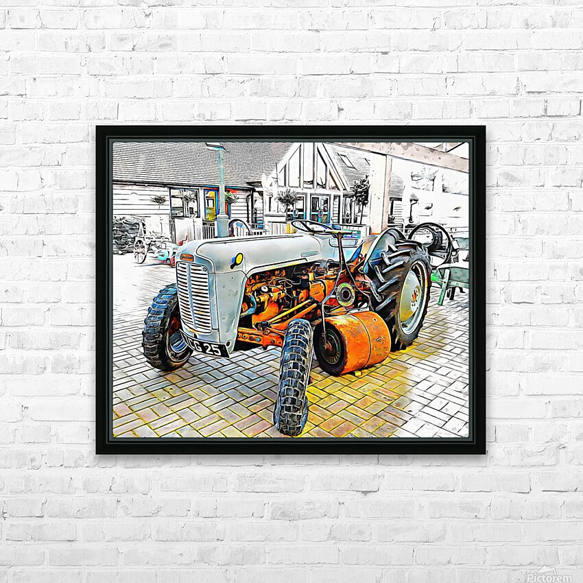 Ferguson Tractor and Hand Roller HD Sublimation Metal print with Decorating Float Frame (BOX)