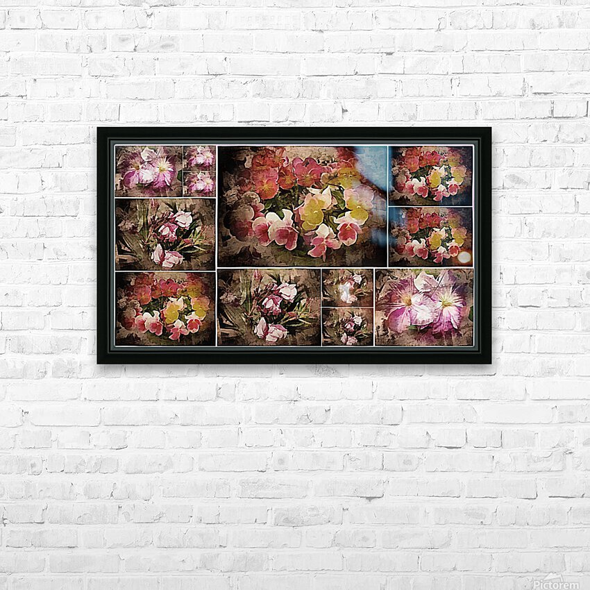 Vintage Floral Imaginings Collage HD Sublimation Metal print with Decorating Float Frame (BOX)