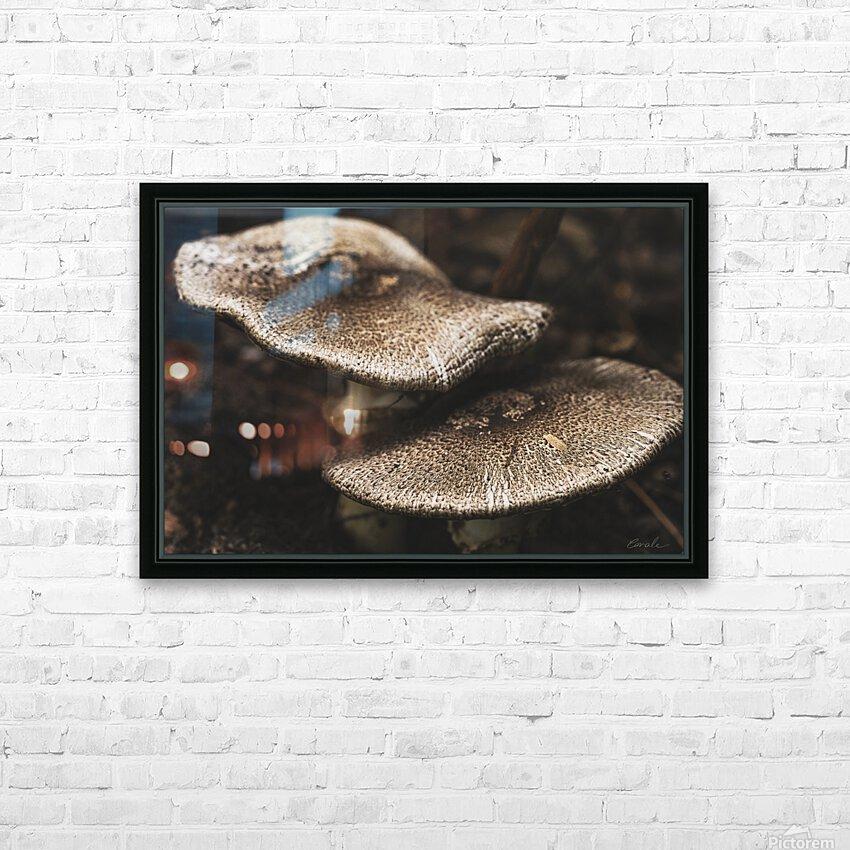 Petit couple au sous bois - Little couple in the underwoods HD Sublimation Metal print with Decorating Float Frame (BOX)