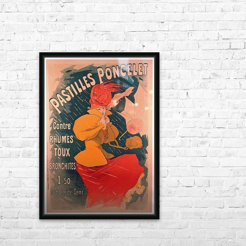 Original 1896 Lithograph Poster Pastilles Poncelet HD Sublimation Metal print with Decorating Float Frame (BOX)