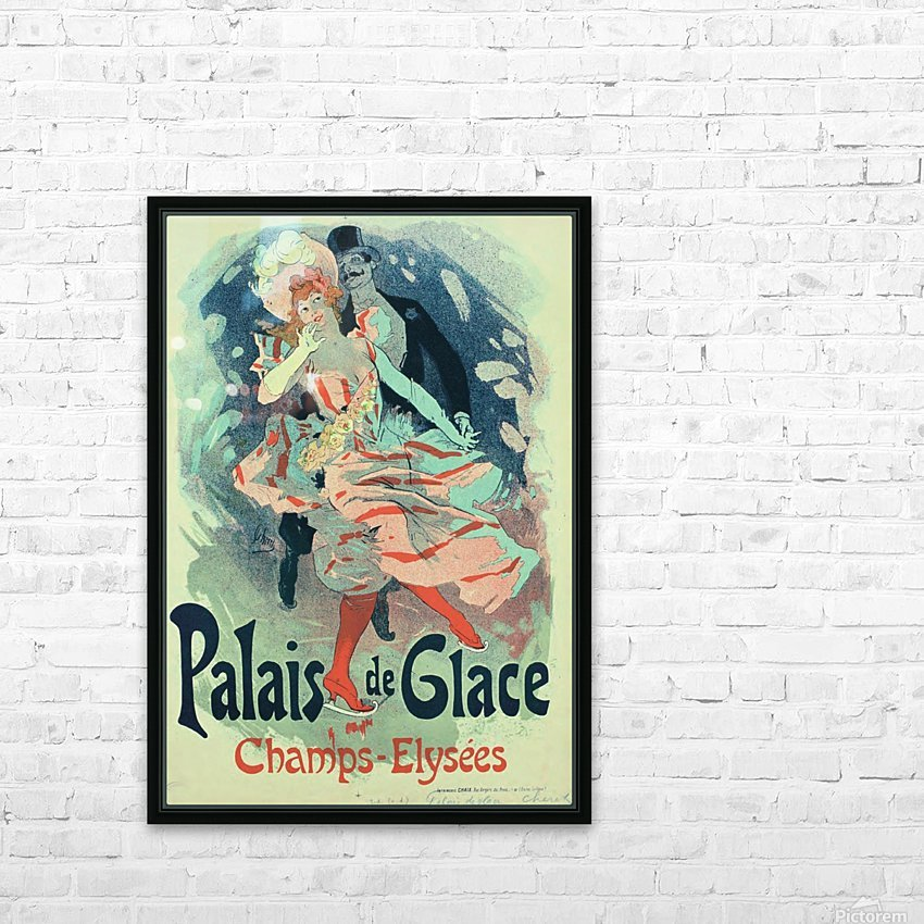 Palais de Glace Vintager Poster HD Sublimation Metal print with Decorating Float Frame (BOX)