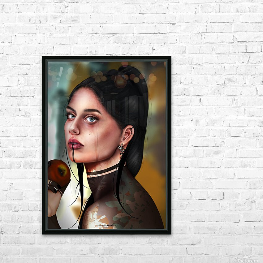 Eves apple HD Sublimation Metal print with Decorating Float Frame (BOX)