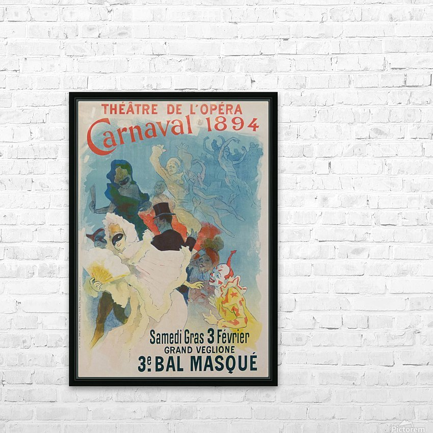 Theatre de Opera Carnaval 1894 original poster HD Sublimation Metal print with Decorating Float Frame (BOX)
