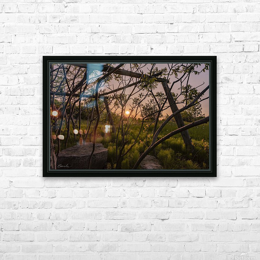 Un lieu pour mediter - A place to meditate HD Sublimation Metal print with Decorating Float Frame (BOX)