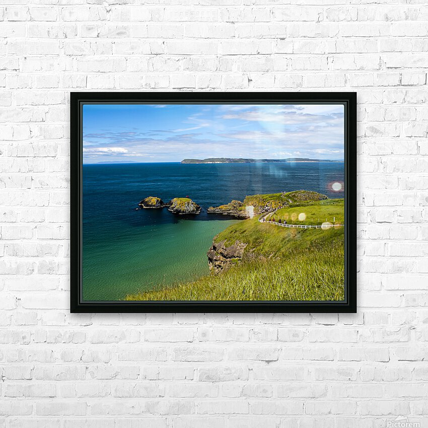 Northern Ireland Coast View HD Sublimation Metal print with Decorating Float Frame (BOX)