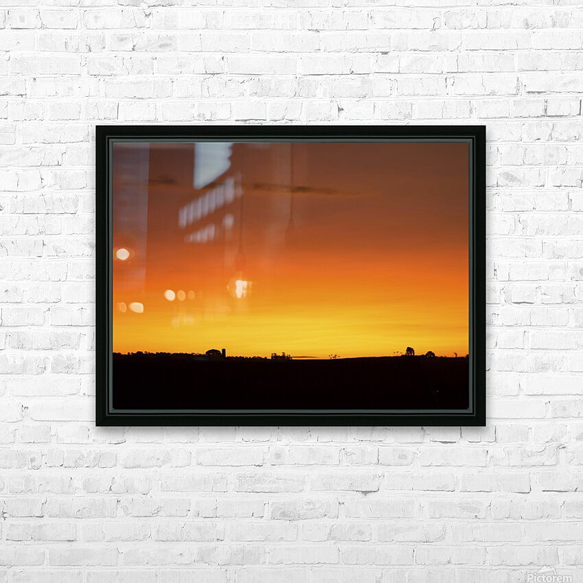 Strong Colours at the End of a Day HD Sublimation Metal print with Decorating Float Frame (BOX)
