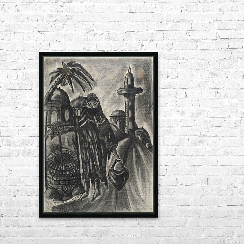RA 014 - אישה מוסלמית - Muslim woman HD Sublimation Metal print with Decorating Float Frame (BOX)