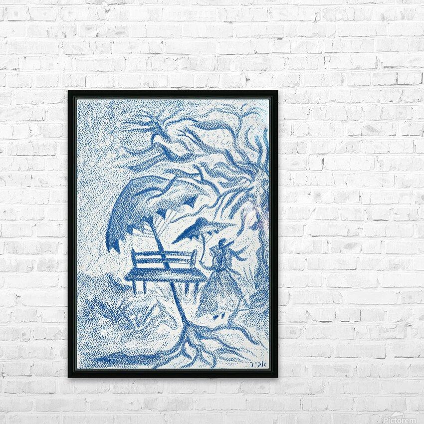 RA 021 - גברת - Lady HD Sublimation Metal print with Decorating Float Frame (BOX)