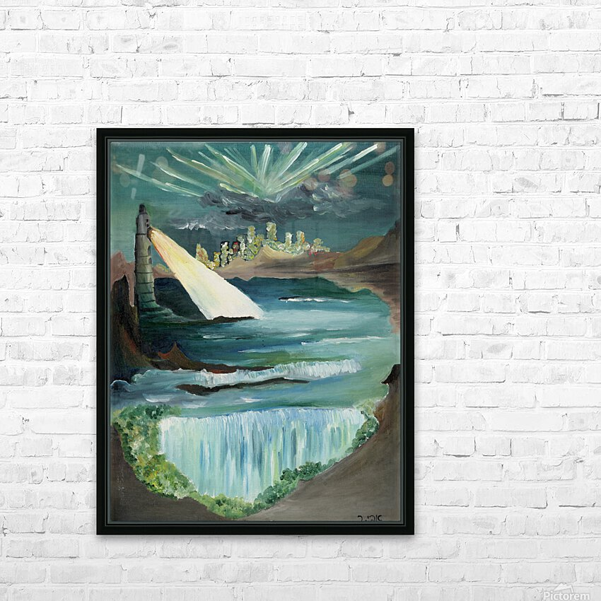 RA 040 - אור המגדלור - Lighthouse light HD Sublimation Metal print with Decorating Float Frame (BOX)