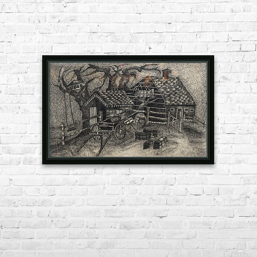 RA 013 - בית בכפר -  house in the village HD Sublimation Metal print with Decorating Float Frame (BOX)