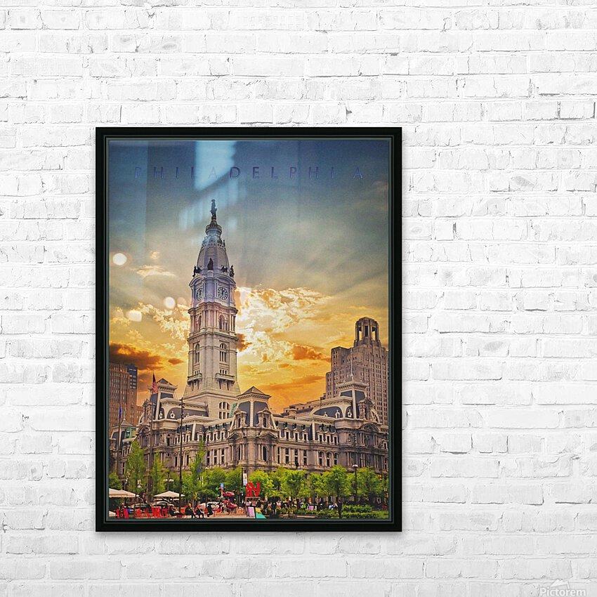 Philadelphia City Hall HD Sublimation Metal print with Decorating Float Frame (BOX)