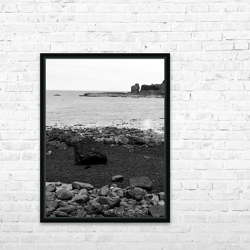 Sea and Rocks HD Sublimation Metal print with Decorating Float Frame (BOX)