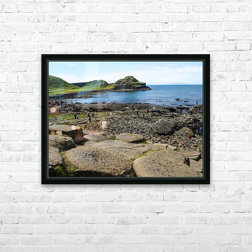 The Giants Causeway in Northern Ireland HD Sublimation Metal print with Decorating Float Frame (BOX)