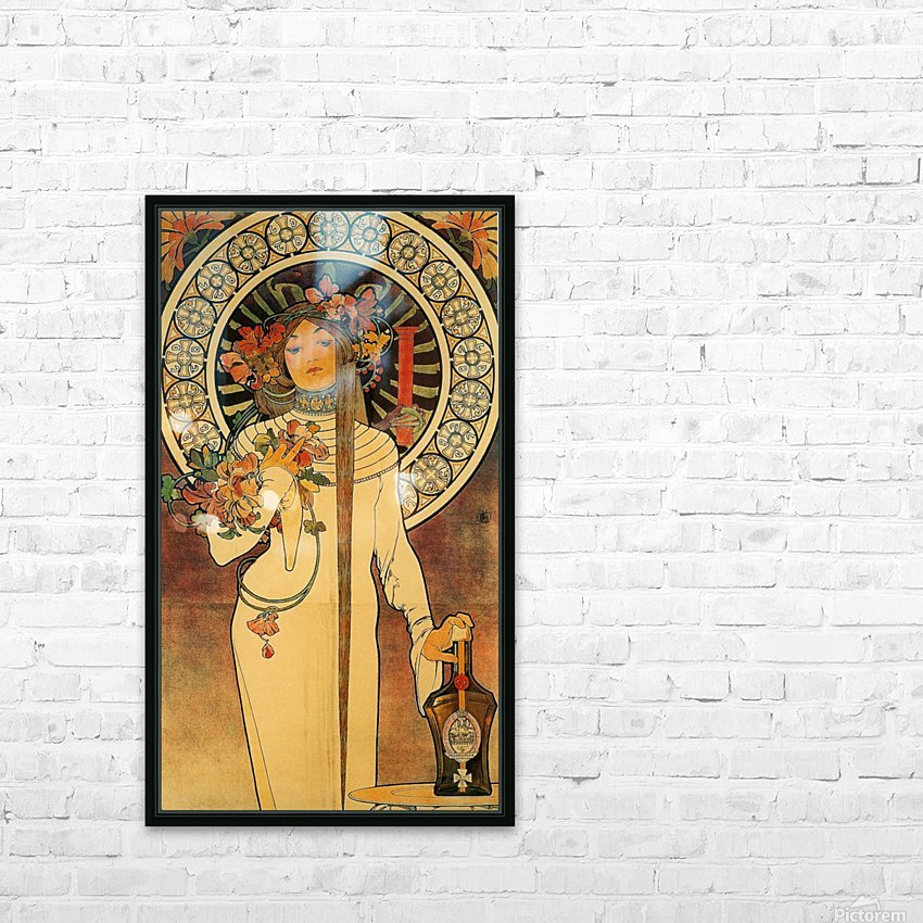 La Trappistine by Alphonse Mucha HD Sublimation Metal print with Decorating Float Frame (BOX)