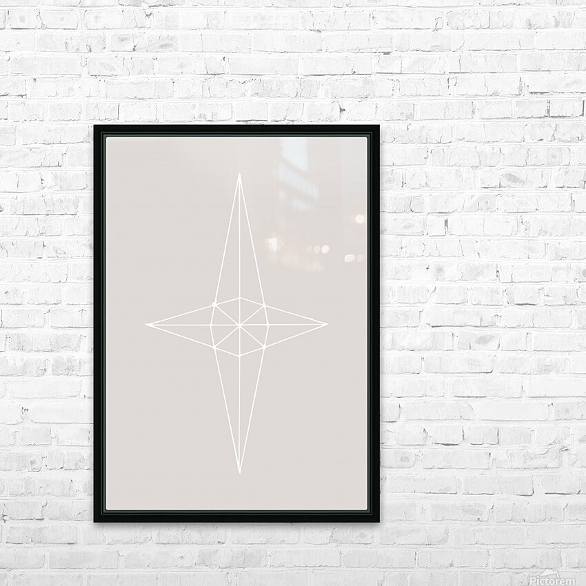 Grid Star Grey HD Sublimation Metal print with Decorating Float Frame (BOX)