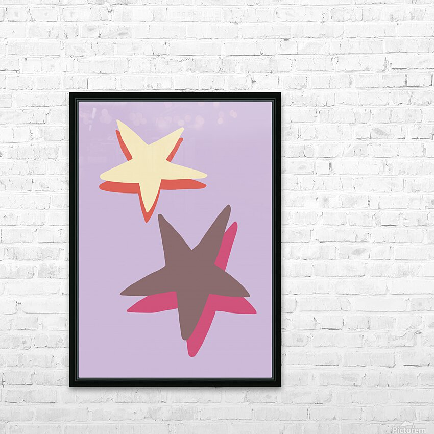 Lilac Star HD Sublimation Metal print with Decorating Float Frame (BOX)