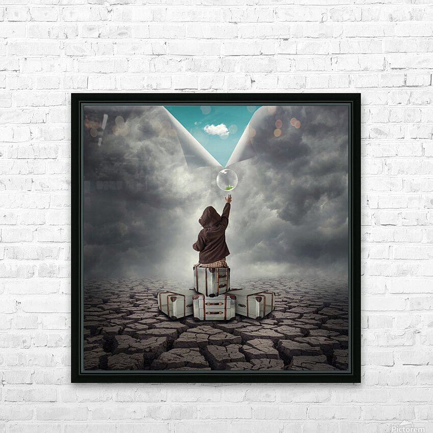 Hope HD Sublimation Metal print with Decorating Float Frame (BOX)