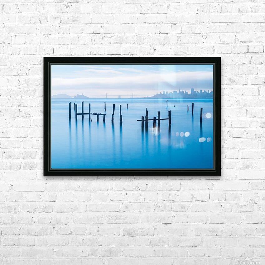 The Old Pier of Sausalito HD Sublimation Metal print with Decorating Float Frame (BOX)
