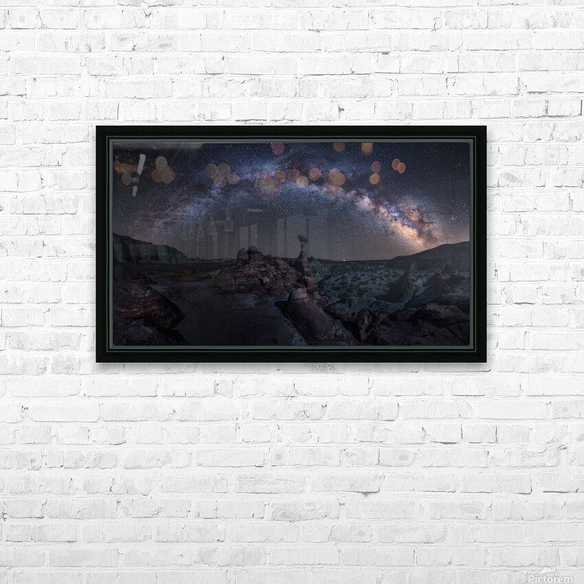 Toadstool Night HD Sublimation Metal print with Decorating Float Frame (BOX)