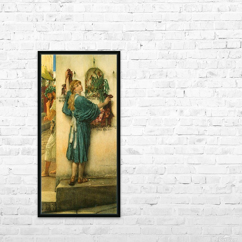 A road altar by Alma-Tadema HD Sublimation Metal print with Decorating Float Frame (BOX)