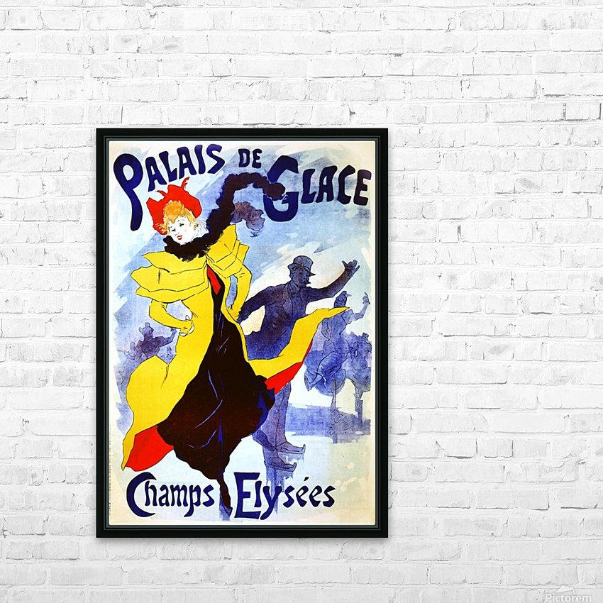 Palais de Glace by Cheret HD Sublimation Metal print with Decorating Float Frame (BOX)