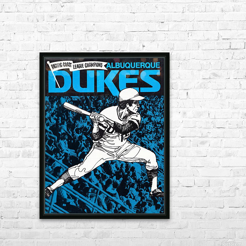 1973 Albuquerque Dukes Baseball  Poster HD Sublimation Metal print with Decorating Float Frame (BOX)