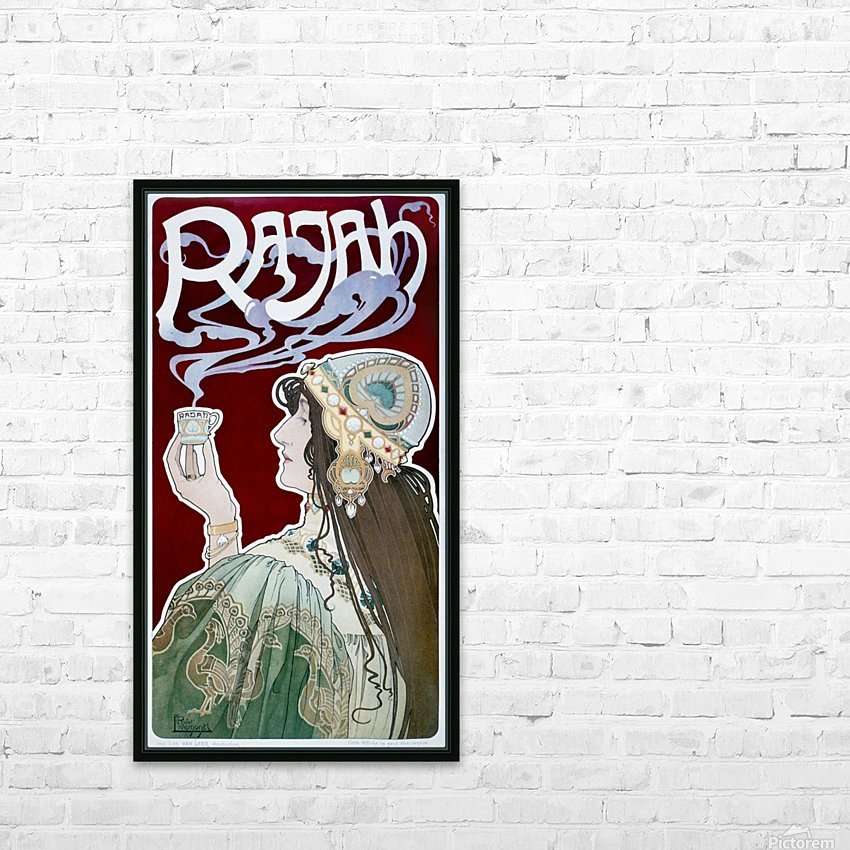 Rajah by Henri Privat-Livemont HD Sublimation Metal print with Decorating Float Frame (BOX)