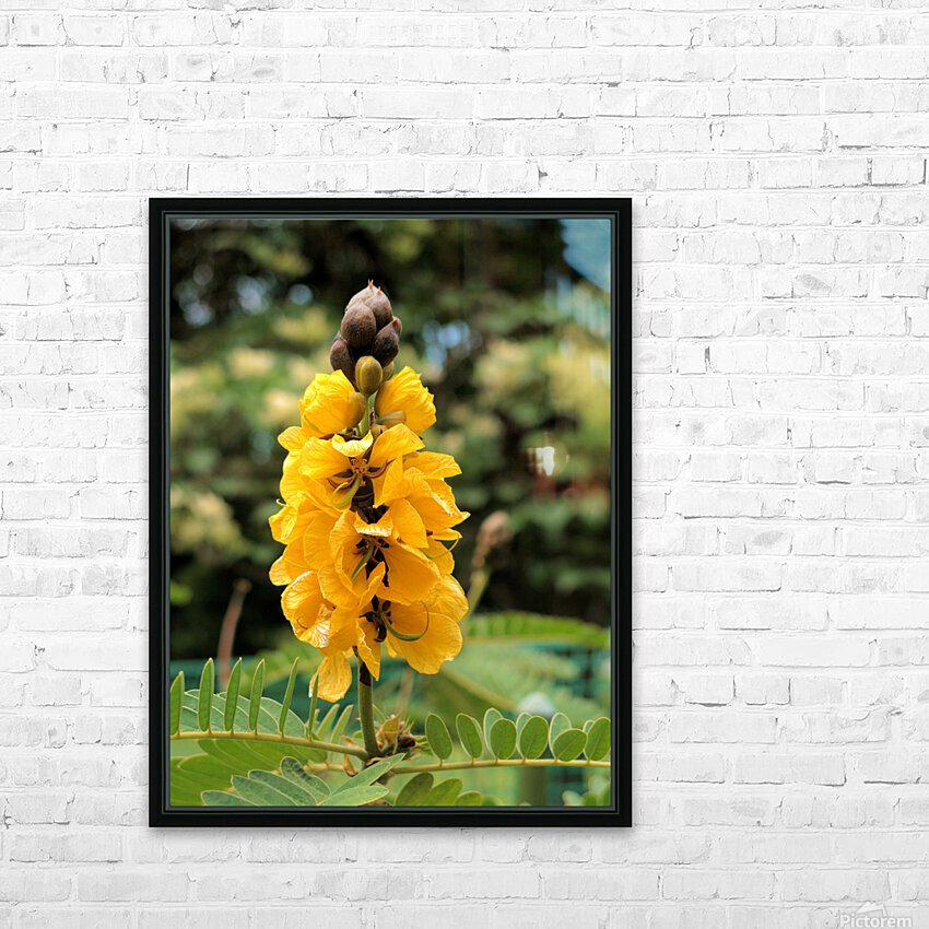 Yellow HD Sublimation Metal print with Decorating Float Frame (BOX)