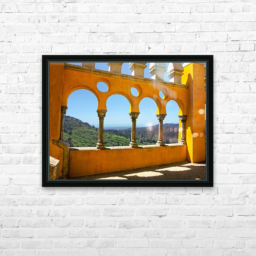 Shadows and Sunlight - Palace of Pena - Sintra Portugal HD Sublimation Metal print with Decorating Float Frame (BOX)