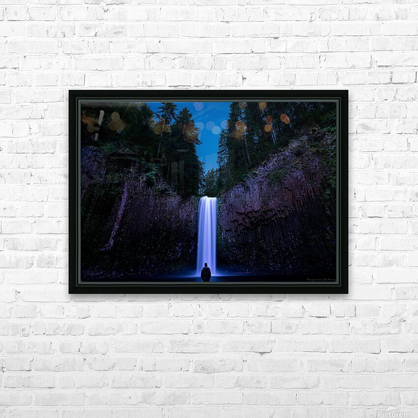 Abiqua Falls HD Sublimation Metal print with Decorating Float Frame (BOX)